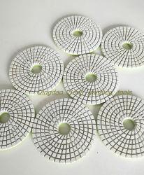 Commerce de gros de la résine Tampon de polissage de diamants en Marbre Granit disque de meulage