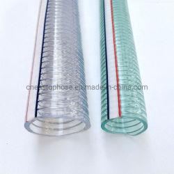 Fil d'acier en spirale en PVC flexible renforcé/PVC tressé tuyau flexible