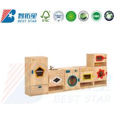 أطفال تربويّ دور لعبة لعبة خشبيّة مطبخ لعبة يثبت لأنّ روضة أطفال وروضة الأطفال