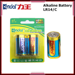 Pilha Alcalina 1,5v C formato LR14 Bateria Seca