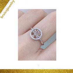 Monili sterlina dell'anello di figura dell'albero d'argento di ultimo disegno per le donne