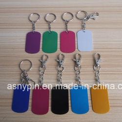 Kundenspezifisches Aluminiumanoden-Viereck Keychains