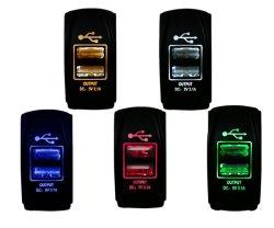 Кулисный переключатель Carling стиле два порта USB автомобильное зарядное устройство