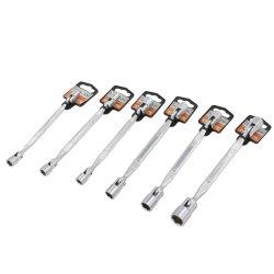Cr-V Flexible Llave doble de acero para herramientas de mano de llave de moto