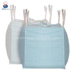 Haute qualité 1tonne 600kg emballage des déchets de construction tubulaire Rafia PP tissés grand sac plastique