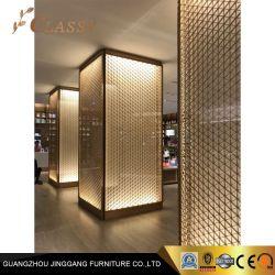 Finition antique Gold Décoration de lampe en métal pour l'hôtel