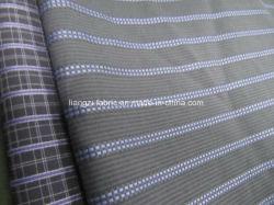 綿の糸のワイシャツのための染められたドビーの縞ファブリック