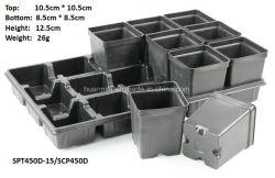 1L дешевые горячее формование пластиковых сочные Pot квадратные часы Flower Pot