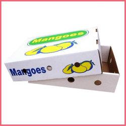 Impresos personalizados envases de papel cartón corrugado de verificación de la fruta