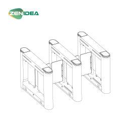 Oscilación de alta calidad barrera óptica Puerta torniquete con el logotipo de la curva del deflector de acrílico