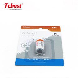 Batterie lithium CR2 primaire Limno2 Piles cylindriques de dioxyde de manganèse-lithium batterie CR2 3V Non-Rechargeable 750mAh Batterie pour appareil photo
