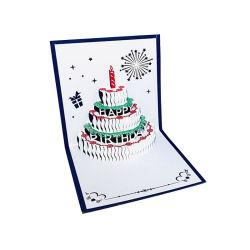 3D-Pop-up торт День Рождения карты годовщины подарок открытка