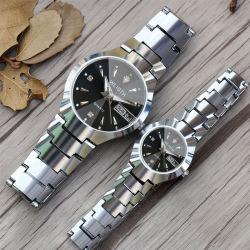 L'acier bon marché Wlisth tungstène montre à quartz Fashion Business deux montres étanches lumineux entre hommes et femmes montre-bracelet