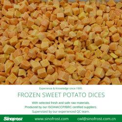 IQF 冷凍の甘いポテトのディシズ、 IQF 冷凍の甘いポテトのスティック、 IQF 冷凍 甘いポテトの切口、 IQF の凍らせた甘いポテトの切れ、 IQF の冷凍食品、 IQF の冷凍 野菜