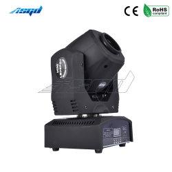 Asgd Spot Cabezal movible LED 60W Gobos iluminación efecto DMX Etapa Mini para DJ