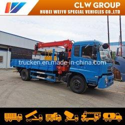 6톤 동펑 킨룬에서 일하는 1톤 2톤 플랫폼 리프팅 엔지니어 긴 일자 직선 암의 크레인 트럭