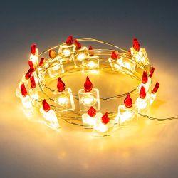 Micro Mini LED de cobre operado a bateria luzes de fio de cobre para Fairy Para decoração de Natal em casa