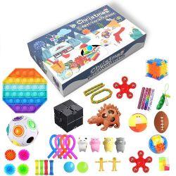 Natale regalo autismo Pop IT Squeeze stress reliever Bubble Kids Sensoriali Calandre Calender Fidget Advent Calendar Toys Set