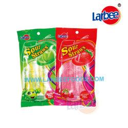 Жевательные конфеты кислый конфеты соломы в пакете