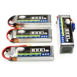 Venda a quente 6s1p RC Lipo Bateria de 22,2 V 3000mAh 2S 3S 4S 6s 30C 35c 40C 60c para RC brinquedo de helicóptero