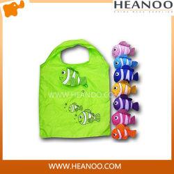 La promotion de la poignée pliable colorés réutilisable de sacs de magasinage de poissons de l'épaule Eco