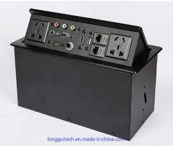 Ordinateur de bureau multimédia HDMI Pop-up Conference Desk Socket Boîte de jonction