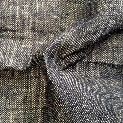 100% a natureza do cânhamo Jean Fabric para roupa (QF13-0086)