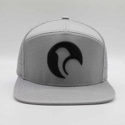 Custom 7 панели обычный серый 3D-вышивка лазерный отверстие крышки Snapback, плоских законопроект бейсбола головных уборов, Gorras Snapbacks кожаный ремешок