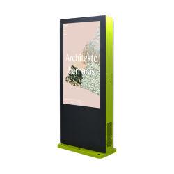 55 pouces de roue extérieur à la poussière Digital Signage kiosque de l'écran tactile