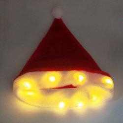 Светодиодный индикатор зимние теплые яркие красочные Xmas подарок трикотажные винты с головкой под строкой освещение декор подарки Рождество с Red Hat