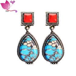 2021 bijoux coréen tendance alliage Turquoise Rhinestone femmes boucles d'oreilles