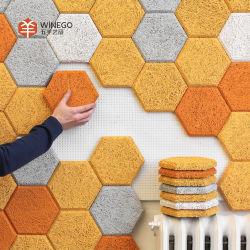 벽면의 3D 글루 타일 장식 음향 패널 구조 장식(&D)