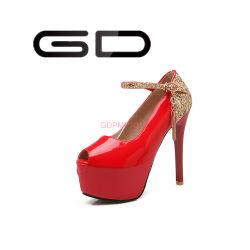 Красный Gdshoe Sexy высокого каблука Peep Toe обувь