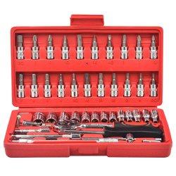 مجموعة لقمة مفتاح ربط السقاطة للمأخذ الرئيسي 1/4 بوصة صندوق أدوات اليد لرجالي الإصلاح