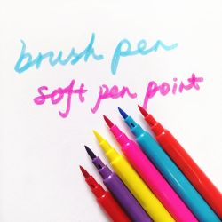 6/12 cores belas Caligrafia da escova de aquarela tintas marcador canetas