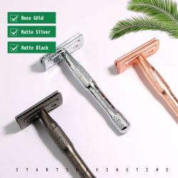 D665 Eco-мужчин' S влажного бритья предельно металлические Gold двойной кромкой безопасности бритвы