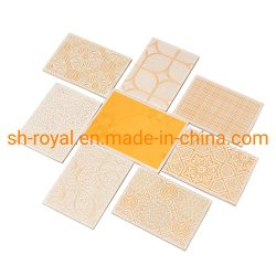 PVC 라미네이트 석고 천장 타일(흰색, 컬러풀한, 골든, 3D 디자인)