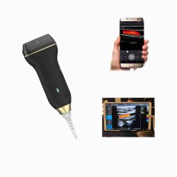 선형 최신 판매 의료 기기 소형 USB 색깔 도풀러 초음파 탐침 고성능 USB 초음파 탐침 스캐너 및 좋은 색깔 도풀러를 가진 볼록 렌즈
