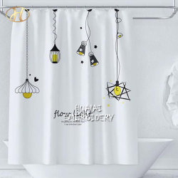 カスタム高品質防水ポリエステルファブリックはデジタルプリント浴室のアフリカのシャワー・カーテンを設計する