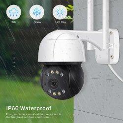Onvif 2.0 5MP bidirektionale im Freien wasserdichte PTZ Sicherheit WiFi AudioÜberwachungskamera