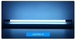 据え付け品のUVC消毒の滅菌装置の殺害の塵のダニの病院の寝室のための紫外線水晶ランプが付いている紫外殺菌ライトT5管