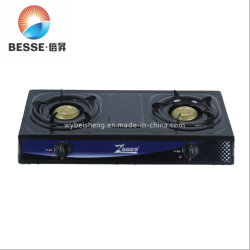 acier inoxydable de la Cuisinière portable cuisinière à gaz avec 2 brûleurs (ZG-2050BC)