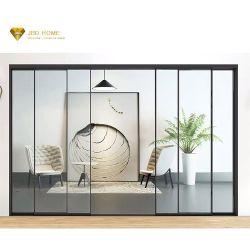 Vidro corrediço de interiores sem caixilho da porta de vidro e a janela de alumínio para a estância aduaneira interior Varanda preços janelas de vidro sem caixilho