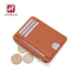 Titular con el bolsillo de cremallera Bolsillo frontal porta tarjeta monedero