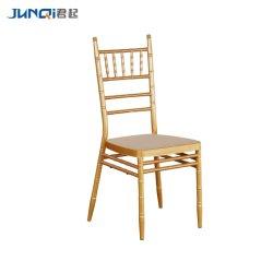 Résine de métal empilable moderne Hôtel Restaurant banquet de mariage Chiavari chaise de salle à manger