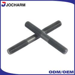 ASTM A193 B7 Alta resistencia eslabones de acero al carbono de óxido negro cabeza Extremo Doble perno prisionero/tornillo hexagonal// los pernos de anclaje de piezas de repuesto los tornillos con tuerca