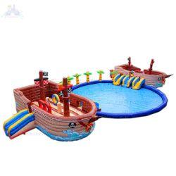 حديقة خارجية متحركة سفينة القراصنة التجارية العمالقة زورق مطاطي بركة المياه متنزه واتربارك أكوا بارك للبيع