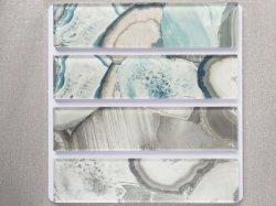 Mejor calidad de bloque de Vidrio Plano de granos de piedra de mármol 75 * 300 * 8/6 mm para la decoración de interiores mosaico Mosaico //Azulejo