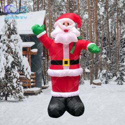 2.4M 8피트 규모의 탄식 크리스마스 산타클로스가 야드풍 장식을 날려요 광고용 산타클로스