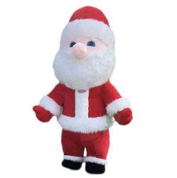 안녕 3m 팽창식 산타클로스 마스코트 복장 당 Cosplay를 위한 착용할 수 있는 크리스마스 한 벌
